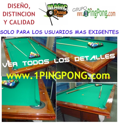 Hace clic para m�s detalles de la Mesas de Pool Magic Dream